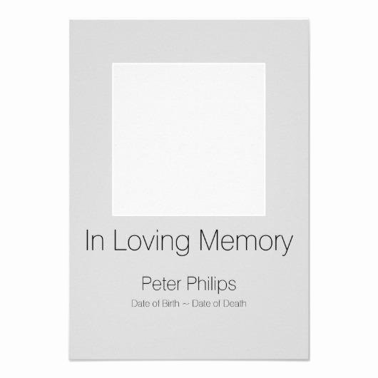 In Memory Of Template Lovely In Loving Memory Template Celebration Of Life 3 3 5×5