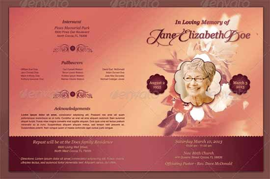 In Memory Of Template Luxury Funeral Program Template 30 Download Free Documents In