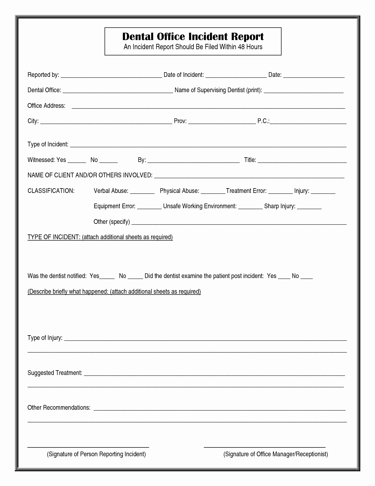 Incident Report form Template Unique Other Template Category Page 4 Spelplus