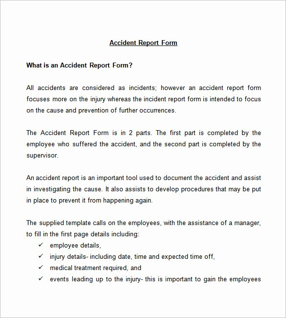 Incident Report Template Pdf Lovely 37 Incident Report Templates Pdf Doc Pages