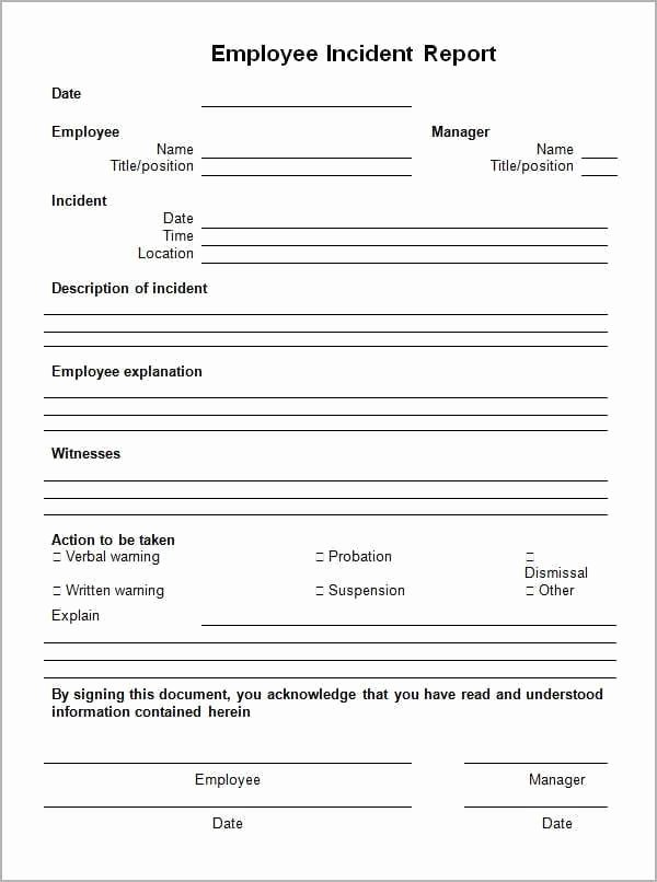 Incident Report Template Pdf New 10 Incident Report Templates Word Excel Pdf formats