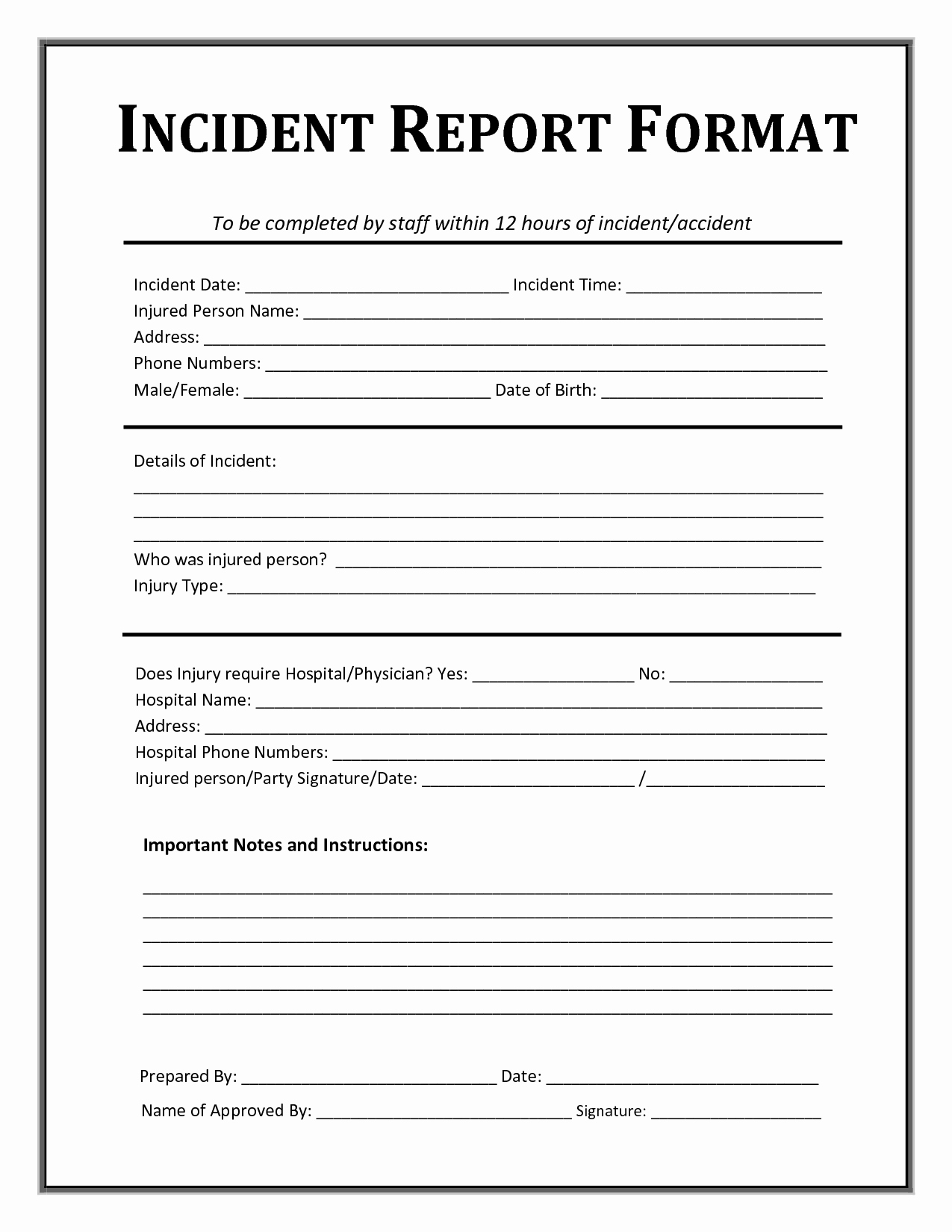 Incident Report Template Word Awesome 13 Incident Report Templates Excel Pdf formats