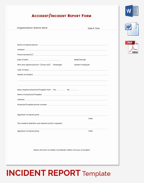 Incident Report Template Word Awesome Incident Report Template 39 Free Word Pdf format