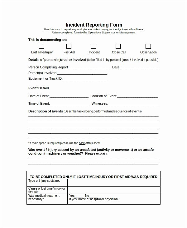 Incident Report Template Word Beautiful Word Report Template 8 Free Word Document Downloads