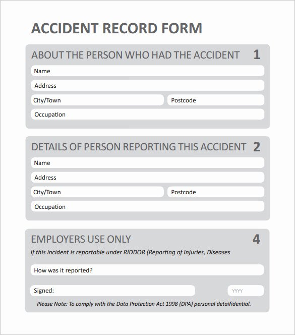 Incident Report Template Word Fresh 12 Employee Incident Report Templates Pdf Doc