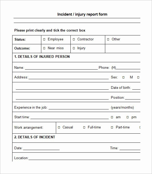Incident Report Template Word Inspirational 12 Employee Incident Report Templates Pdf Doc
