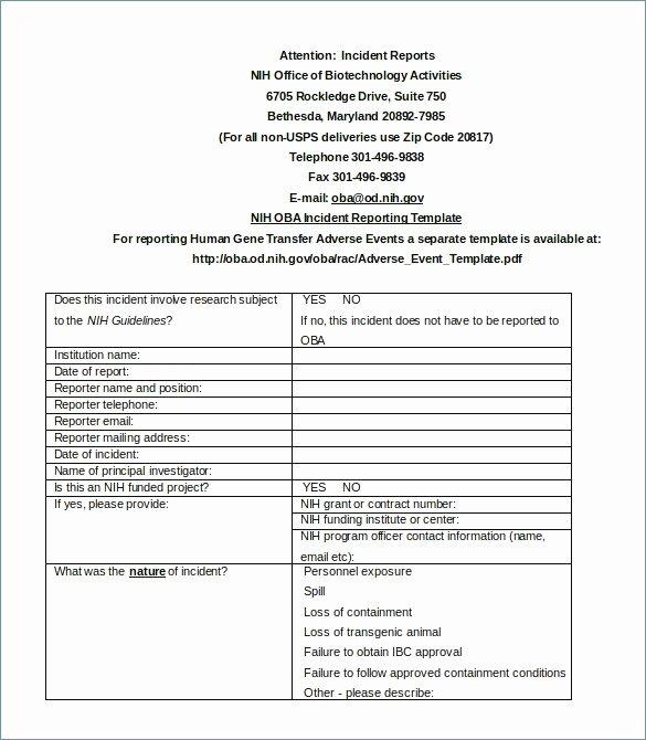 Incident Response Plan Template Fresh Free Incident Response Plan Template Nist – Free Template