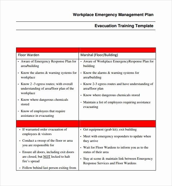Incident Response Plan Template Luxury 10 Emergency Response Plan Templates