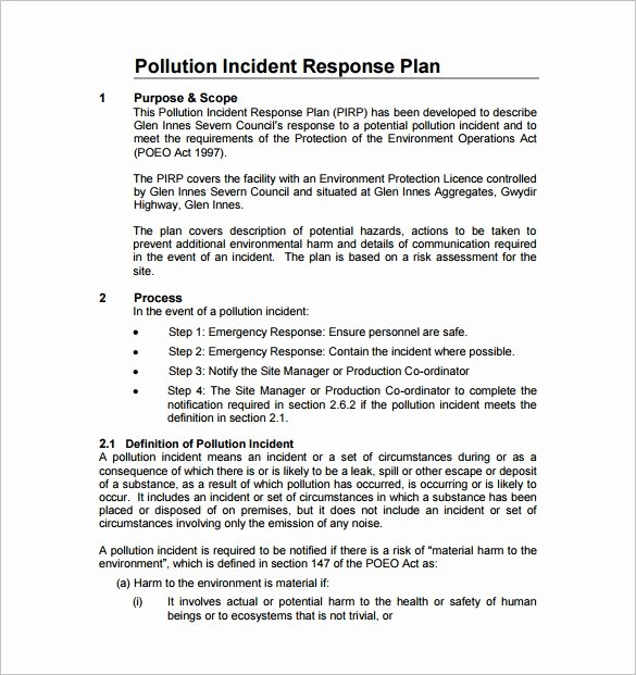 Incident Response Report Template Best Of 8 Incident Response Plan Templates Pdf Doc