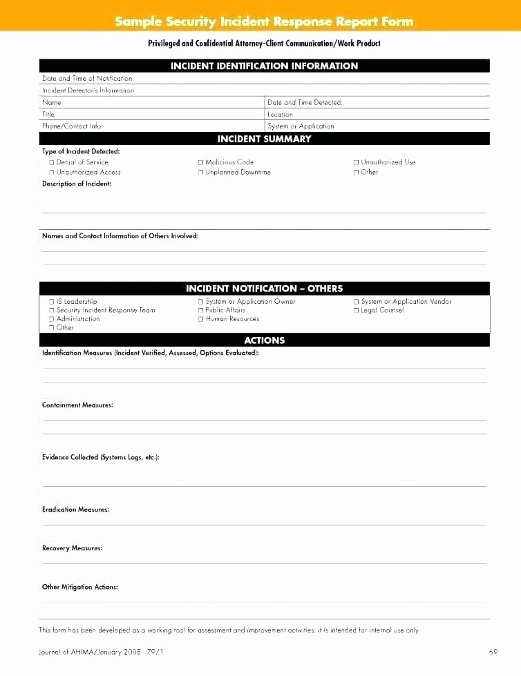 Incident Response Report Template Fresh Accident Investigation form Template Plus Inspirational