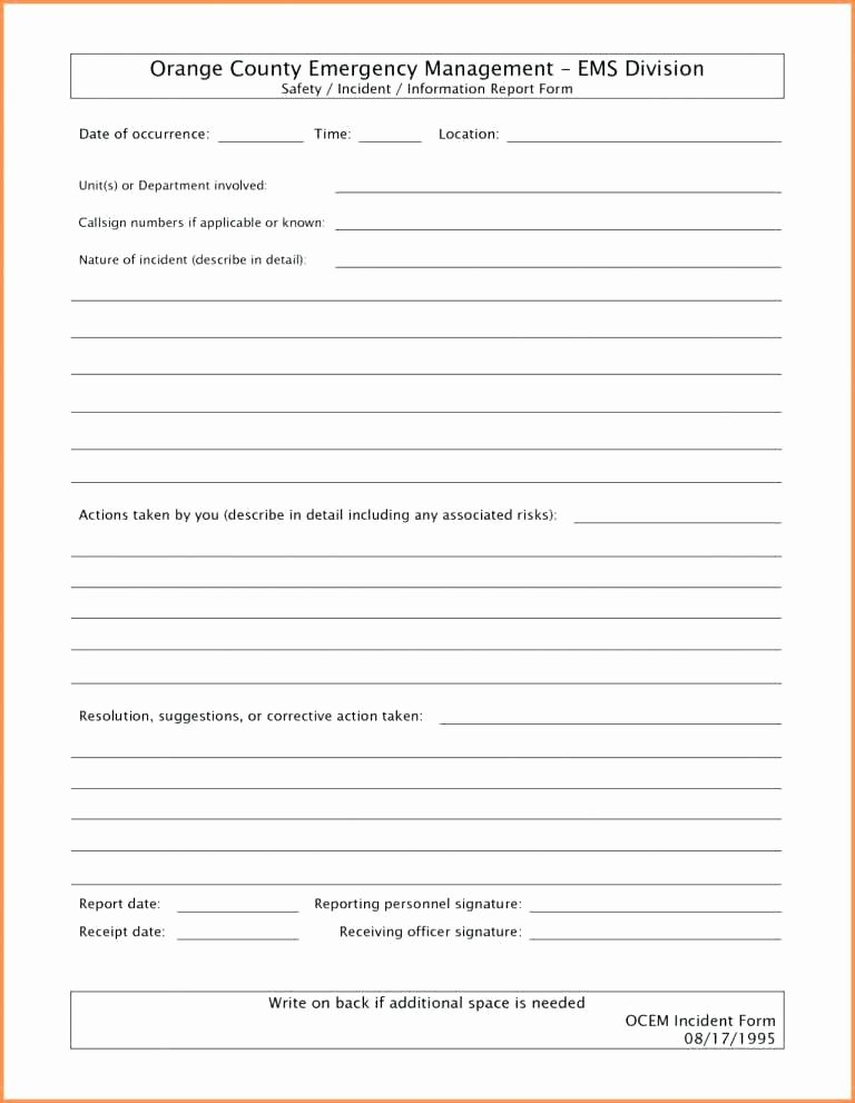 Incident Response Report Template Inspirational Incident Response Report Template with Police form