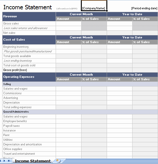 Income Statement Template Word Awesome 21 Free In E Statement Templates In Word Excel Pdf