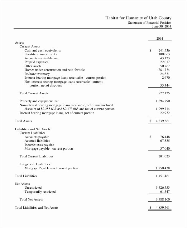 Income Statement Template Word Luxury In E Statement Template 8 Free Word Xls Pdf