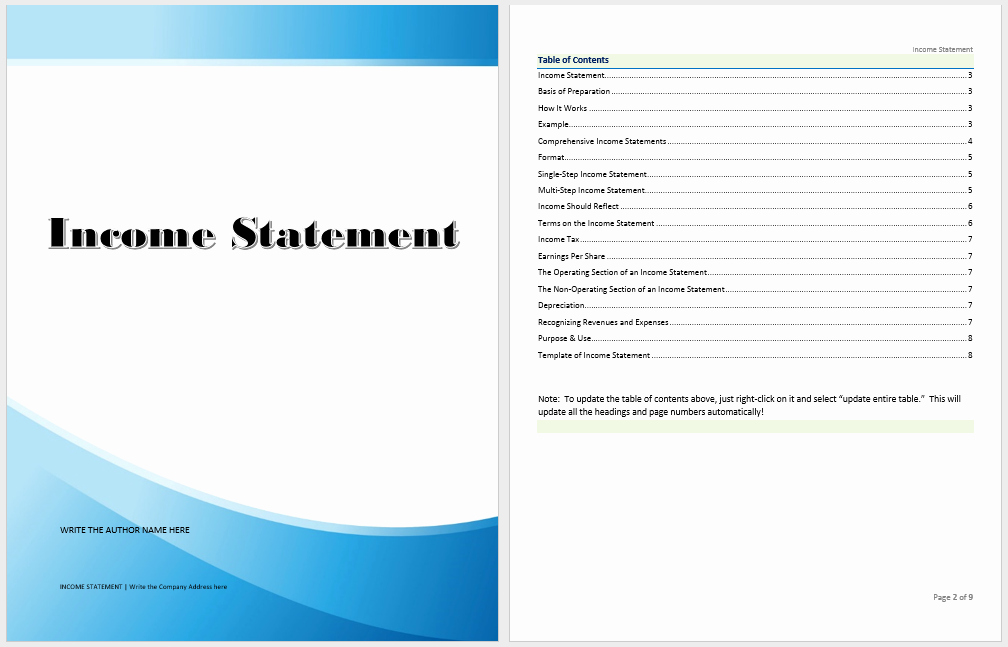 Income Statement Template Word New In E Statement Template Microsoft Word Templates