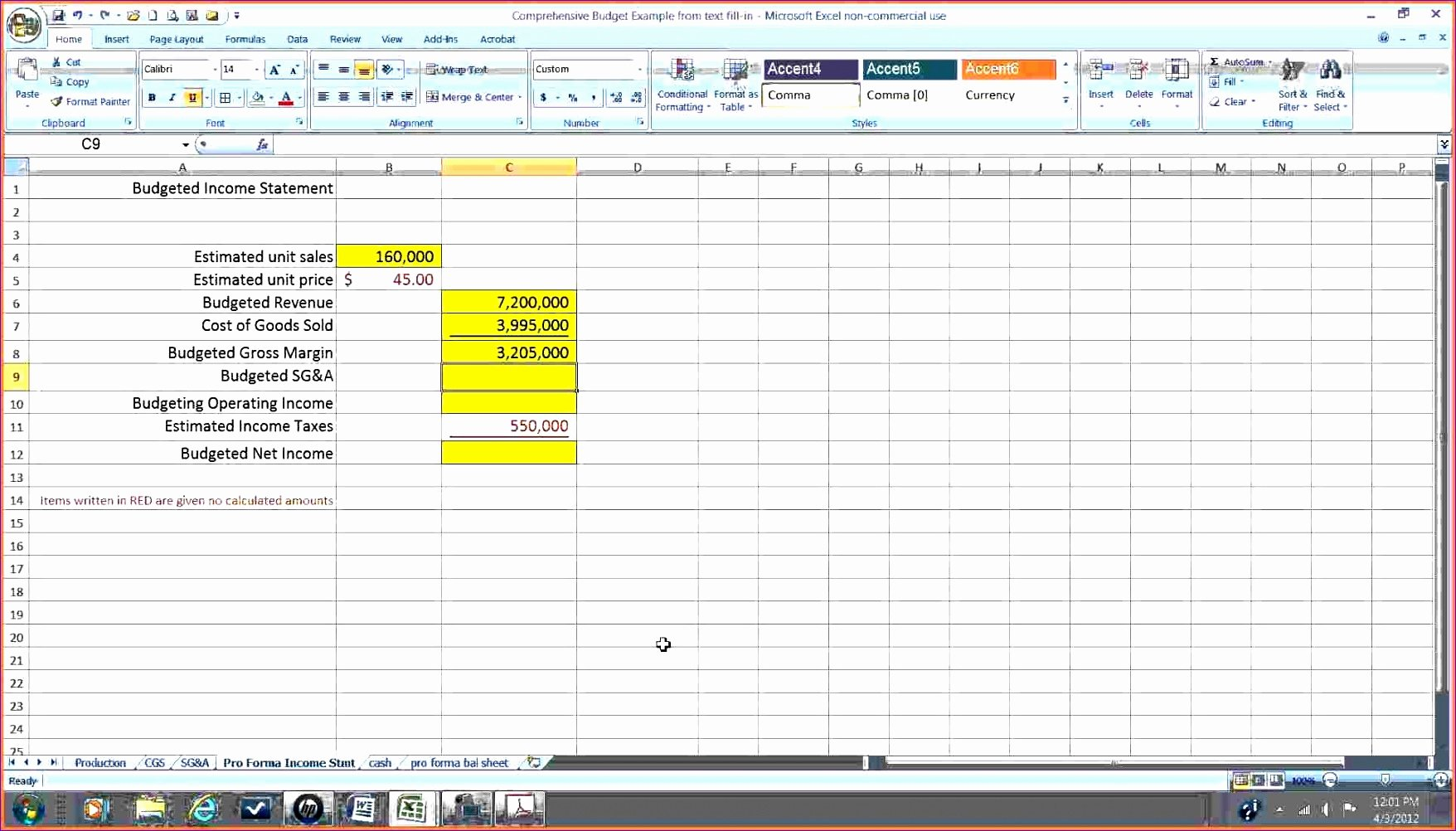 Income Statement Template Xls Unique 8 Pro forma In E Statement Excel Template