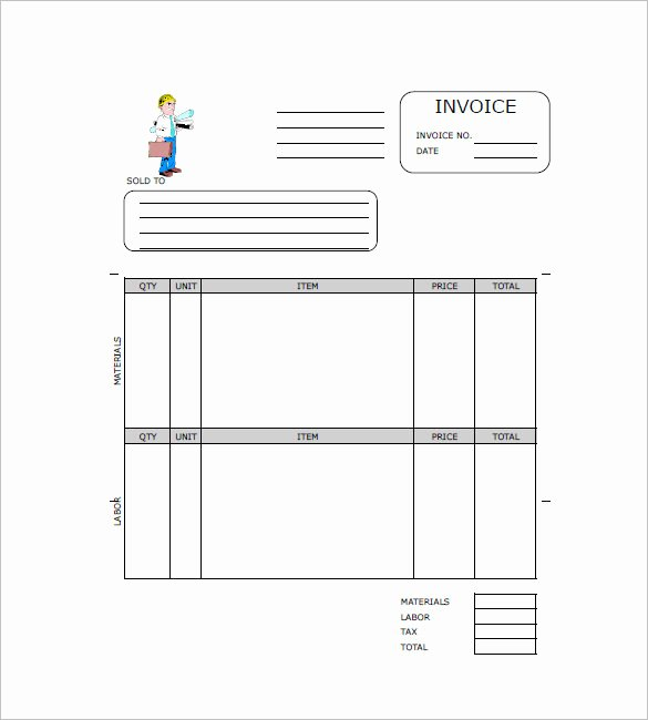 Independent Contractor Invoice Template Elegant Free Contractor Invoice Templates