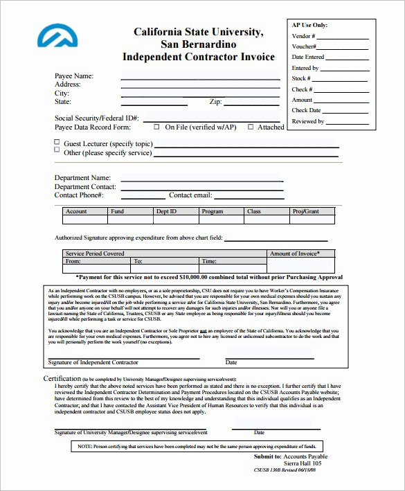 Independent Contractor Invoice Template Inspirational Invoice Template for Mac Line