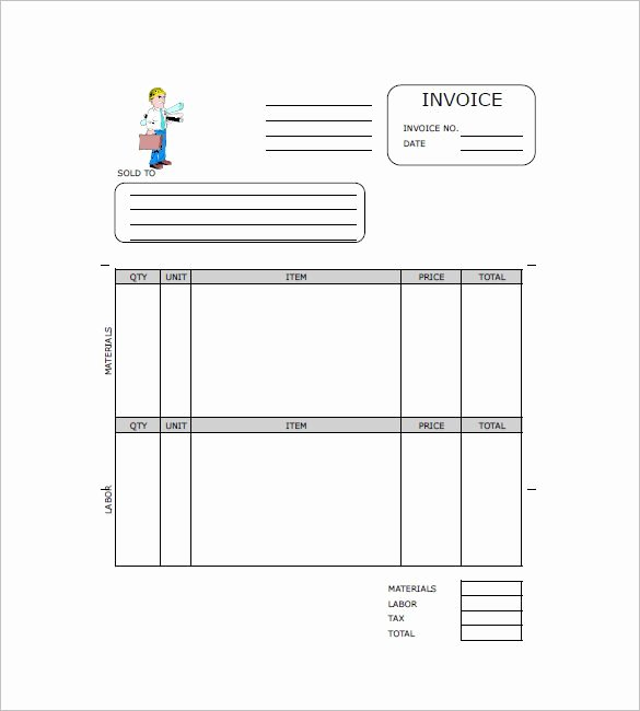 Independent Contractor Invoice Template Unique Contractor Invoice Templates 10 Free Excel Word Pdf