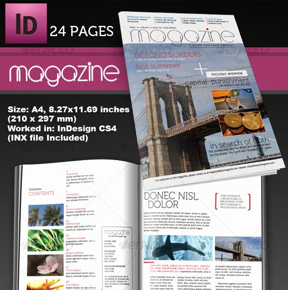Indesign Book Cover Template Awesome 25 Shop & Indesign Magazine Cover Templates