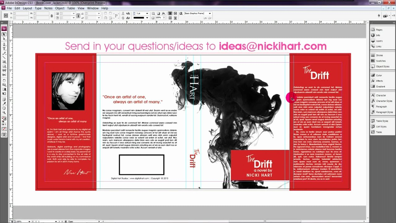 Indesign Book Cover Template Awesome How to Design A Book Jacket Cover Book Design