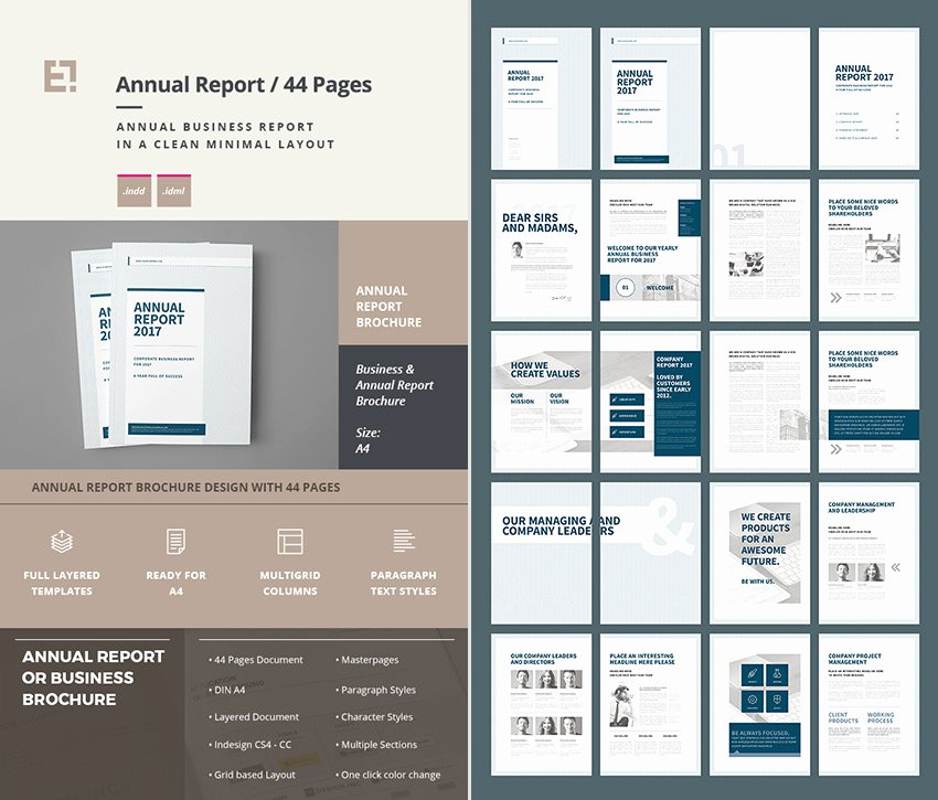 Indesign Business Plan Template Beautiful 15 Annual Report Templates with Awesome Indesign Layouts