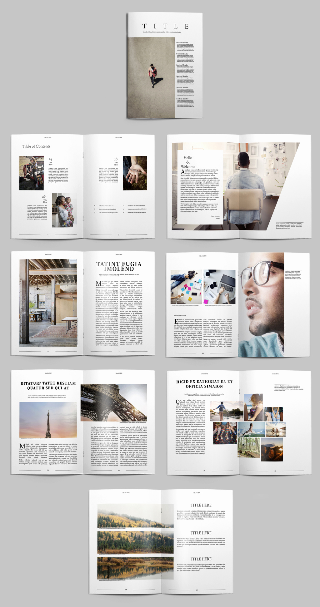 Indesign Business Plan Template Luxury Free Indesign Magazine Templates