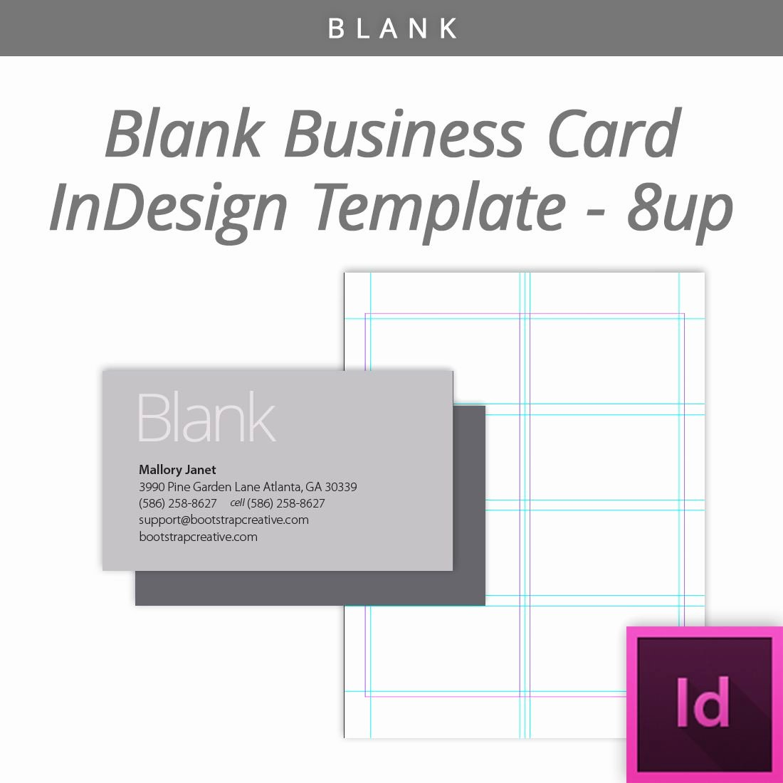 Indesign Business Plan Template Unique Blank Indesign Business Card Template 8 Up Free Download