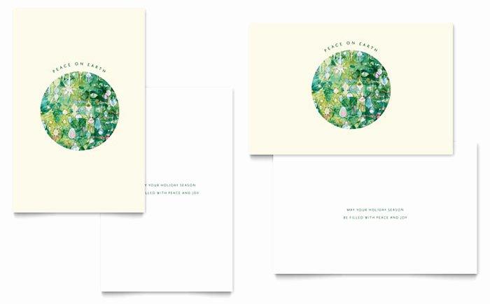 Indesign Greeting Card Template Elegant Peace Earth Greeting Card Template Design