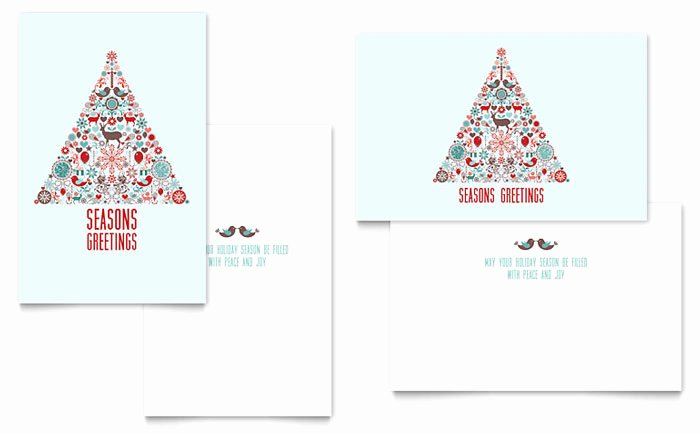 Indesign Greeting Card Template Unique Holiday Art Greeting Card Template Design