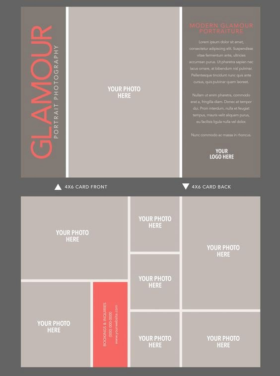 Indesign Postcard Template Free Best Of Indesign 4x6 Card Template by Shaunalofyportraits On Etsy