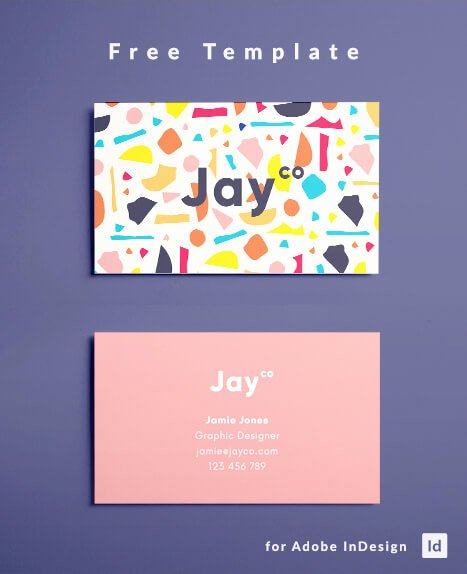Indesign Postcard Template Free Unique Indesign Business Card Template