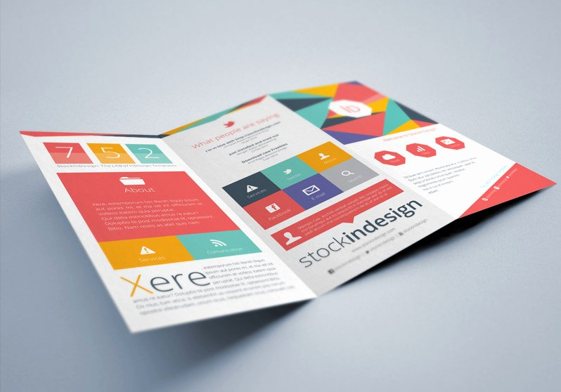 Indesign Trifold Brochure Template Elegant Free Indesign Brochure Templates Flat Trifold Brochure