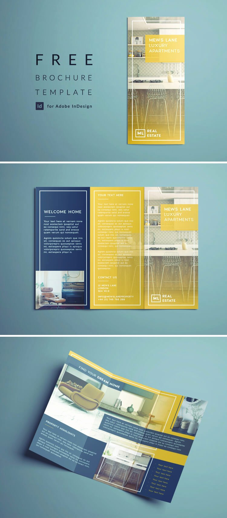 Indesign Trifold Brochure Template Luxury Tri Fold Brochure
