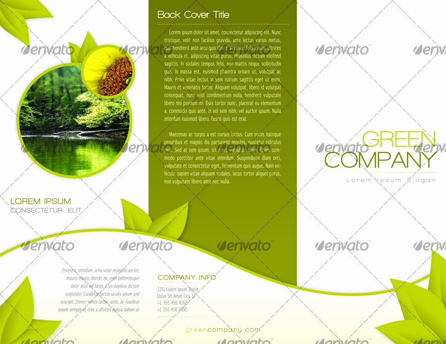 Indesign Trifold Template Free Beautiful Green Trifold Brochure Indesign Template by Alvarocker