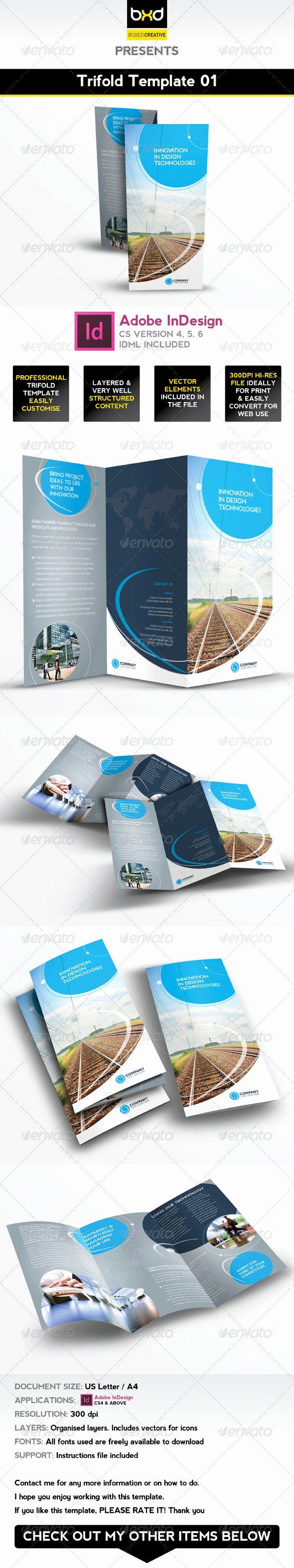 Indesign Trifold Template Free Elegant Trifold Brochure Template 01 Indesign Layout