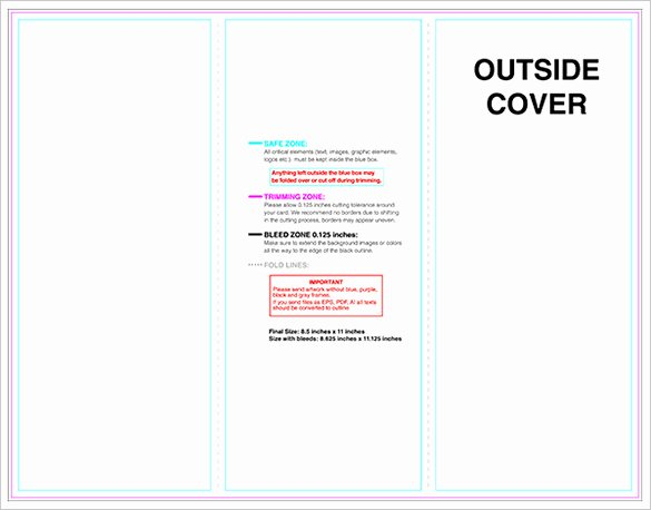 Indesign Trifold Template Free Fresh 10 Printable Trifold Templates Doc Psd Pdf Eps