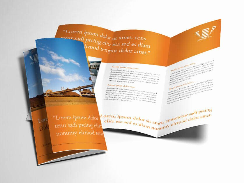 Indesign Trifold Template Free Inspirational Indesign Trifold Brochure Template Industrial Mining theme