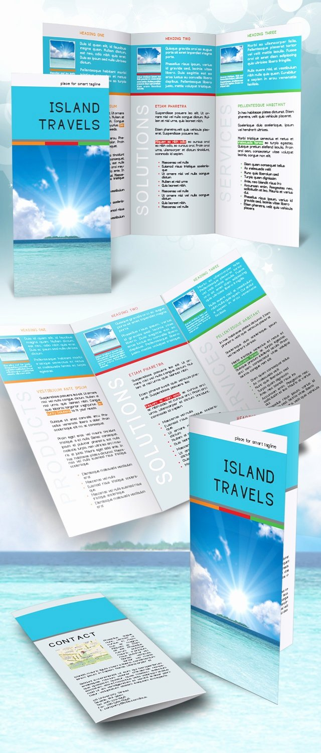 Indesign Trifold Template Free Lovely Indesign Tri Fold Brochure Template Free