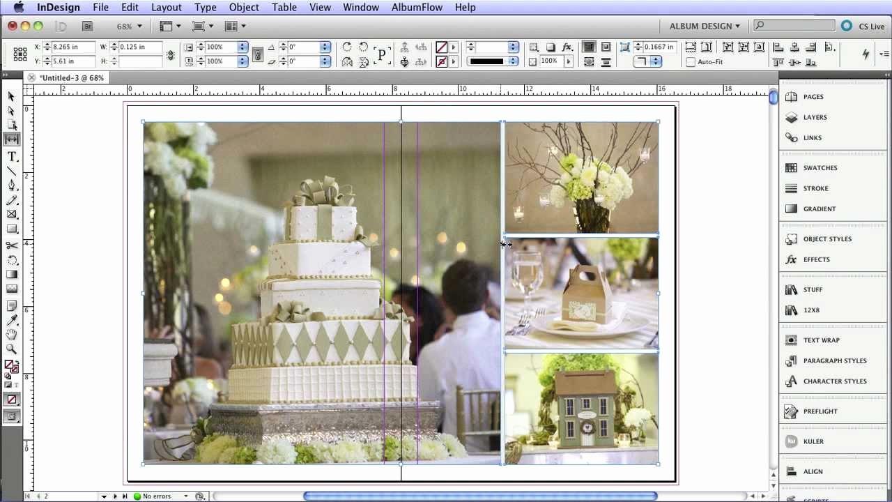 Indesign Wedding Program Template Elegant Indesign Libraries for Album Templates