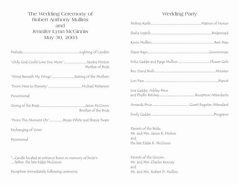 Indesign Wedding Program Template Elegant Indesign Wedding Program Template Epp Acpfo