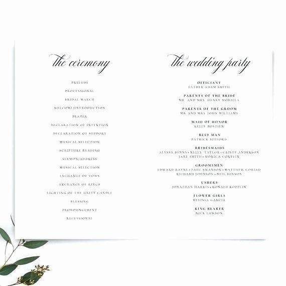 Indesign Wedding Program Template Inspirational Wedding Booklet Template Program Templates Word Indesign
