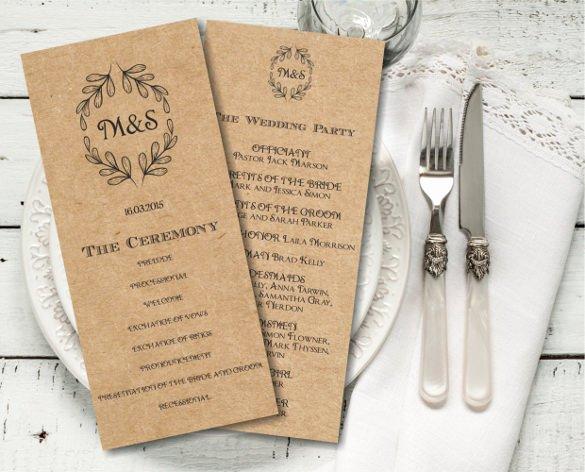 Indesign Wedding Program Template Unique 26 Wedding Ceremony Program Templates Psd Ai Indesign