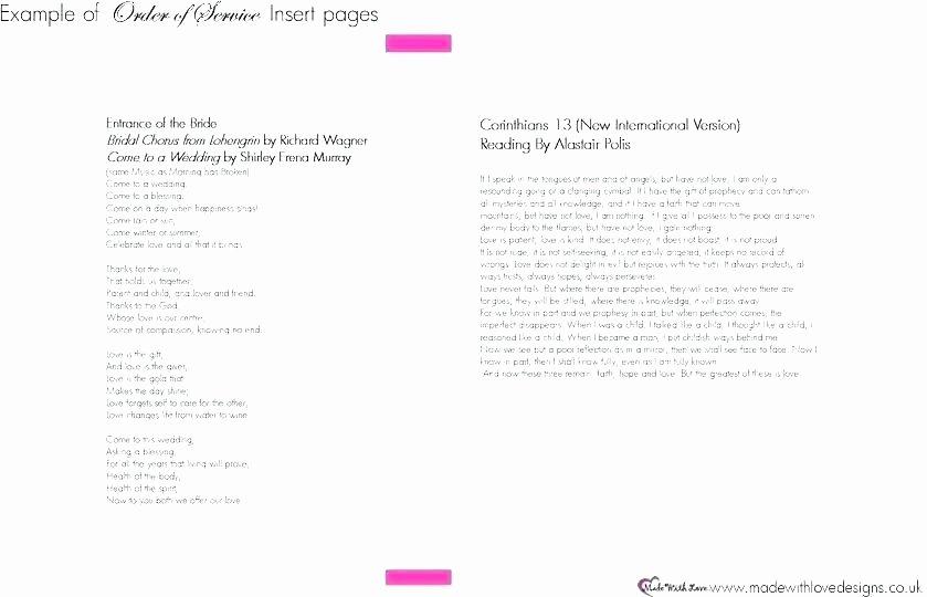 Indesign Wedding Program Template Unique Wedding Booklet Template Program Templates Word Indesign
