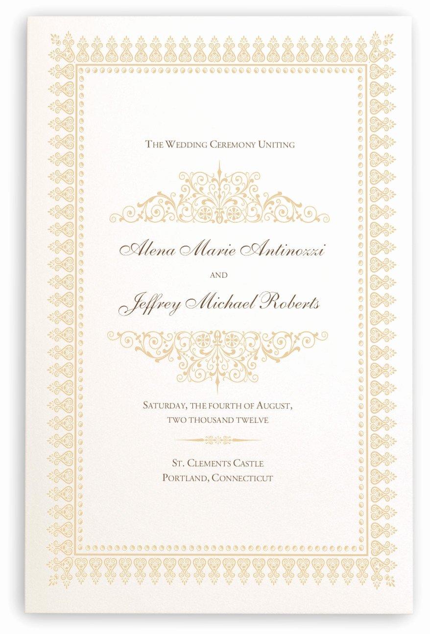 Indian Wedding Program Template Beautiful Wedding Programs