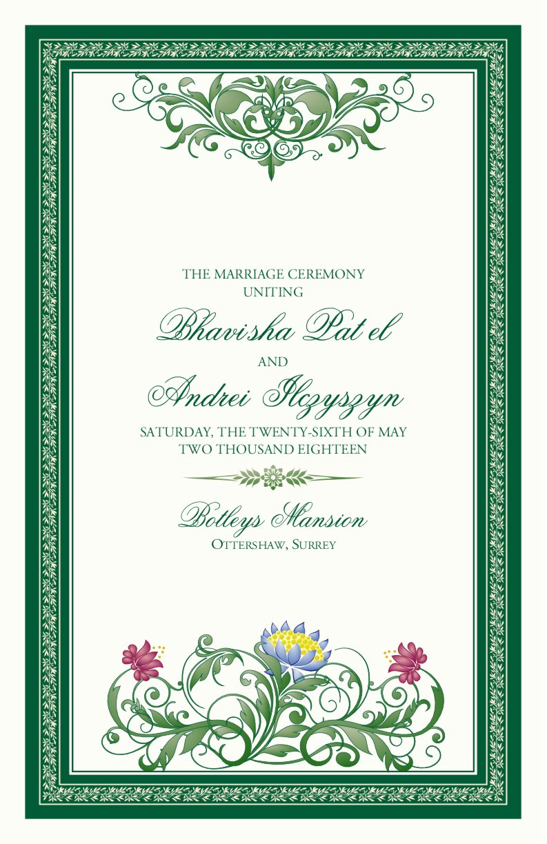 Indian Wedding Program Template Unique Moon Bloom Monogram Indian Wedding Programs Hindu Wedding