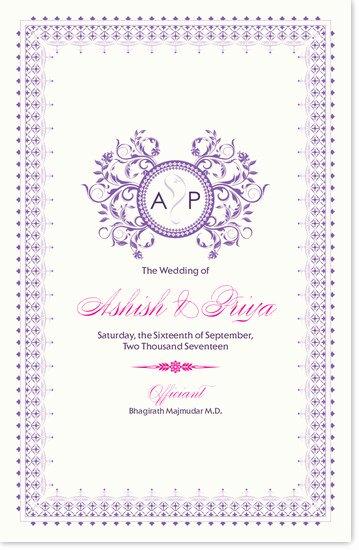 Indian Wedding Program Template Unique Wedding Program Templates and Wording for Indian Wedding