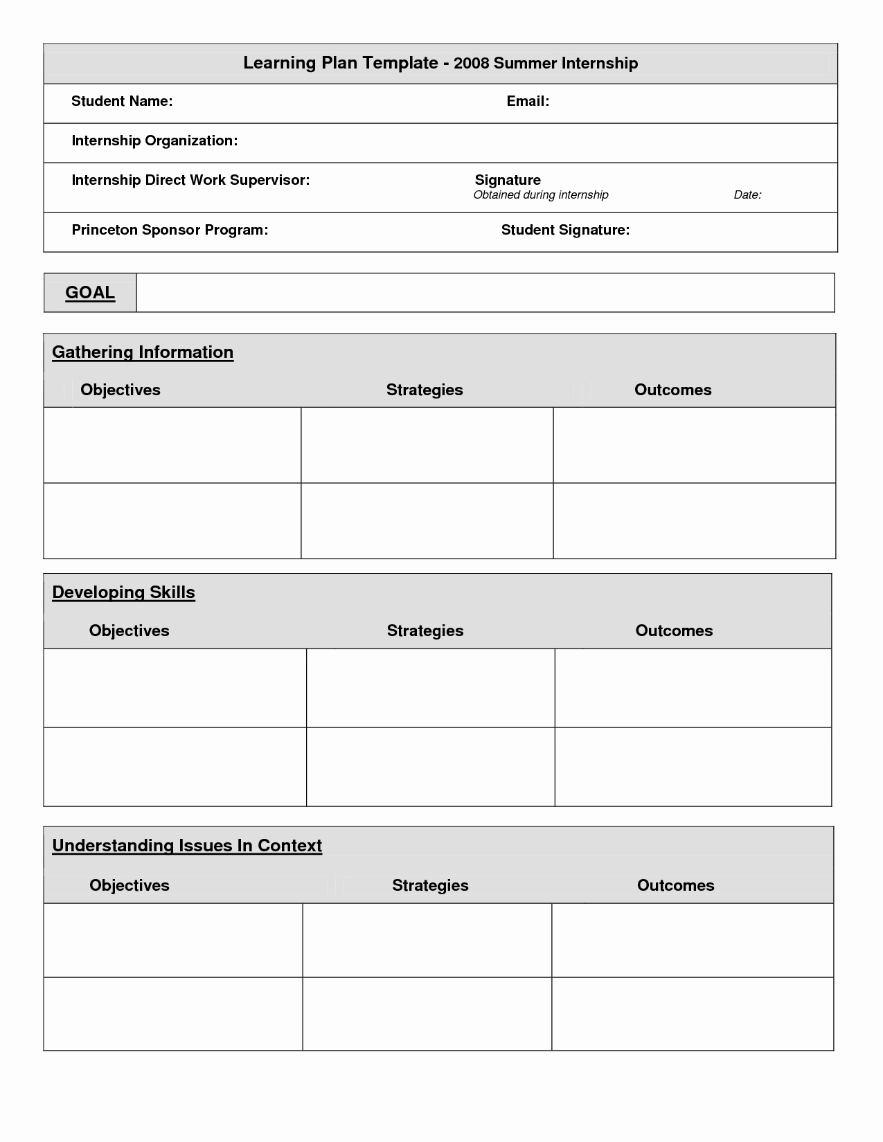 Individual Learning Plan Template Elegant Best S Of Individual Learning Plan Template