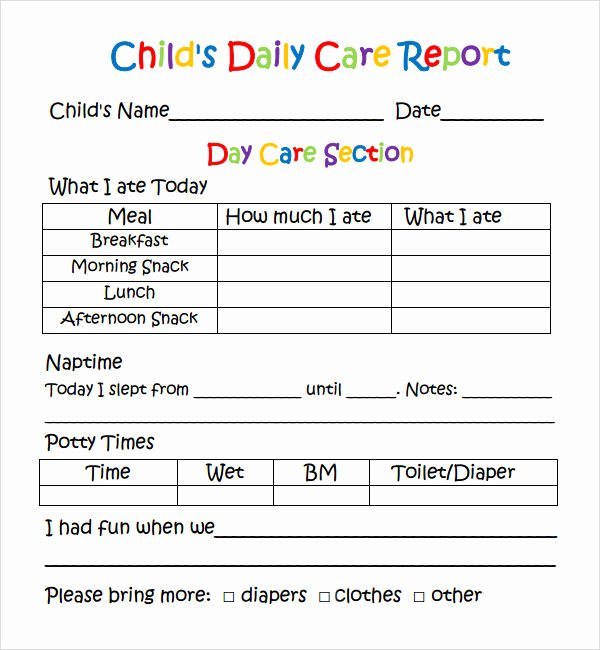 Infant Daily Report Template Unique 1000 Images About Ps Learning assessment Reports On