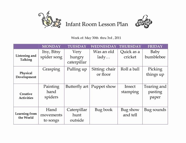 Infant Lesson Plan Template Awesome Best 25 Infant Lesson Plans Ideas On Pinterest