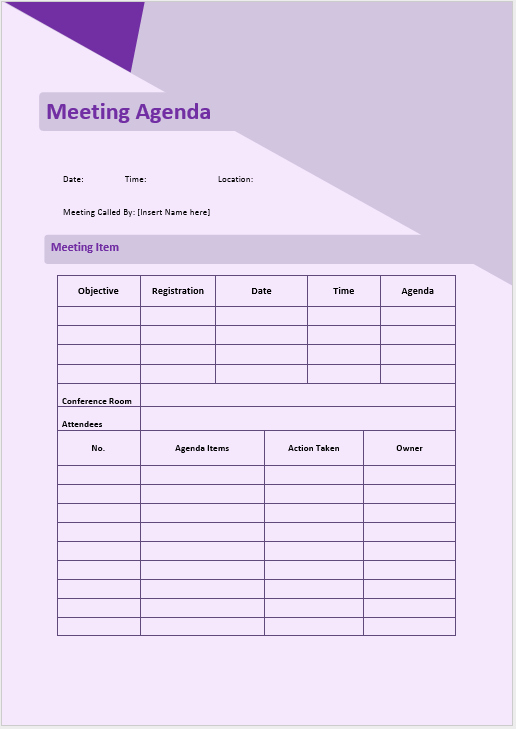 Informal Meeting Minutes Template Best Of Informal Meeting Agenda Template Microsoft Word Templates